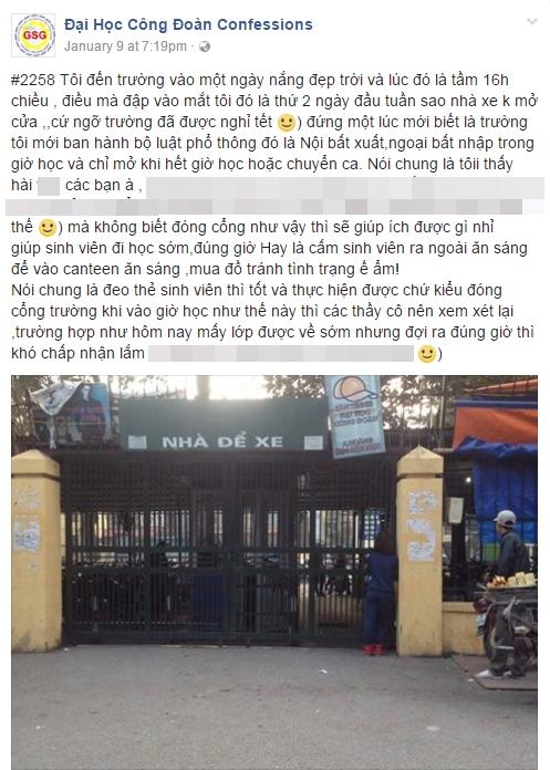 ĐH Công Đoàn cấm sinh viên ra khỏi trường trong giờ học gây xôn xao - Ảnh 1.