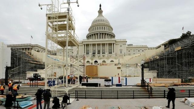 Khu vực Cánh Tây của điện Capitol, nơi sẽ diễn ra lễ nhậm chức của ông Trump (Ảnh: Reuters)