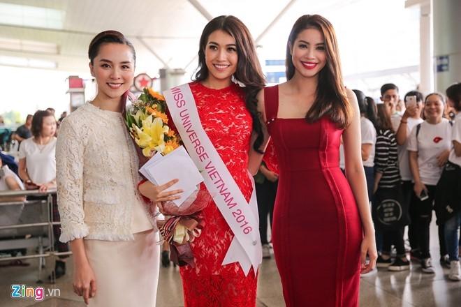 Pham Huong tien Le Hang len duong thi Miss Universe hinh anh 3