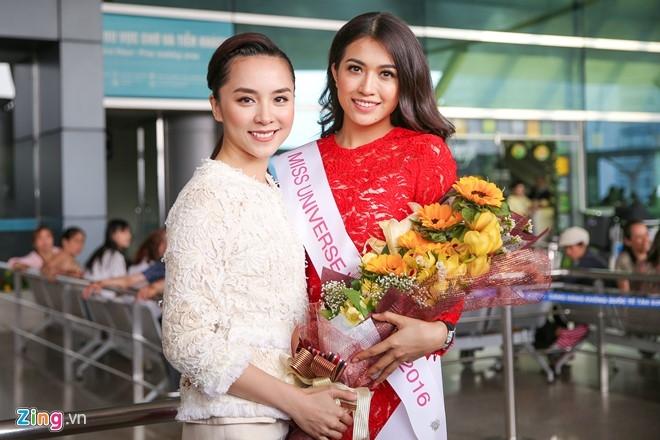 Pham Huong tien Le Hang len duong thi Miss Universe hinh anh 4