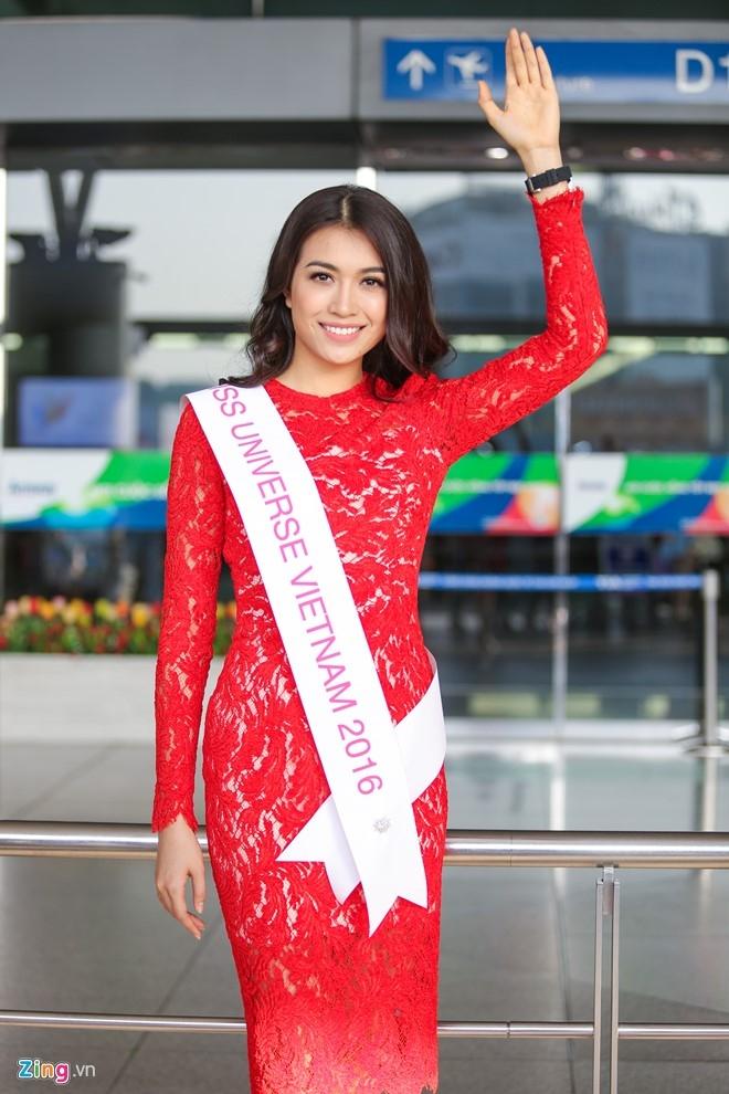 Pham Huong tien Le Hang len duong thi Miss Universe hinh anh 5
