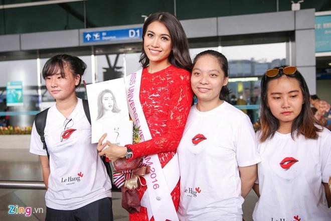 Pham Huong tien Le Hang len duong thi Miss Universe hinh anh 6