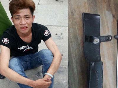 Bị vây bắt, tên cướp rút dao găm tấn công