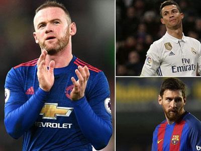 Bằng chứng cho thấy chỉ Cris Ronaldo và Messi sánh được với Rooney