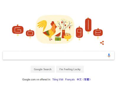 Google đổi Doodle mừng Tết Đinh Dậu 2017