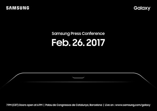 Samsung hé lộ việc ra mắt Galaxy Tab S3 tại MWC 2017