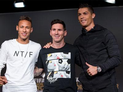 Thống kê: Neymar tài năng không kém Ronaldo và Messi