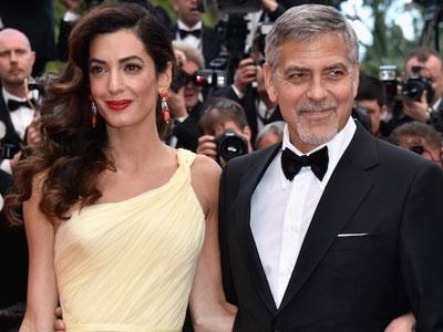 Vợ tài tử George Clooney mang bầu song thai ở tuổi 40