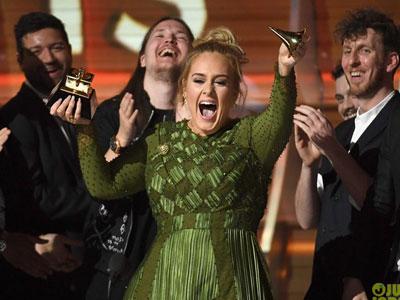 Adele đại thắng tại Grammy 2017