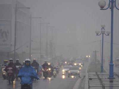 Miền Bắc tăng nhiệt, sương mù mịt mờ