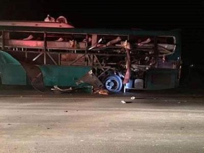 Hoàn tất khám nghiệm vụ nổ xe khách ở Bắc Ninh khiến 2 người chết
