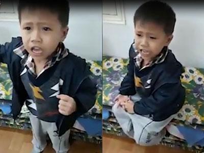Clip lời nhận lỗi dễ thương của bé trai: