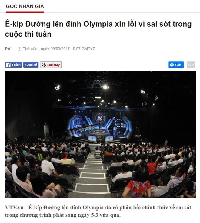 E-kip 'Duong len dinh Olympia' xin loi vi lam sai lech ket qua hinh anh 2