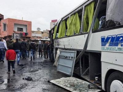 Đánh bom liên hoàn ở thủ đô Syria, hơn 40 người chết