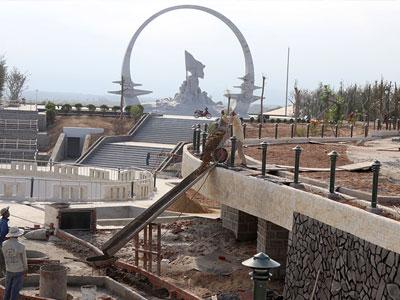 Khu tưởng niệm chiến sĩ Gạc Ma dần hình thành