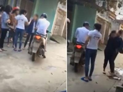 Clip bà bầu đánh ghen ở Thanh Hóa: Người chồng có vợ bị đánh