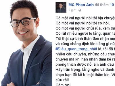NSƯT Chí Trung, Hoàng Bách ủng hộ MC Phan Anh đáp trả người