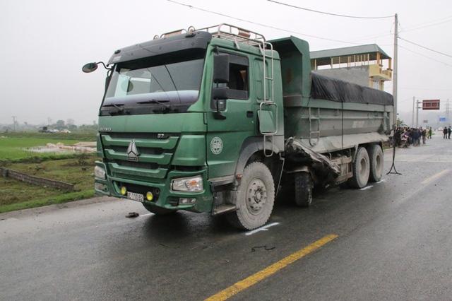 Chiếc xe tải liên quan vụ tai nạn nghiêm trọng