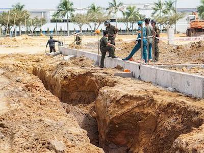 Bình Dương: Sập hố công trình, 2 công nhân bị vùi lấp tử vong