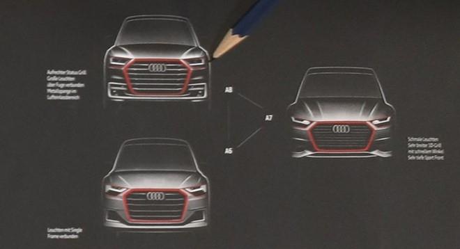 Audi A6, A7, A8 the he moi lan dau lo thiet ke hinh anh 1