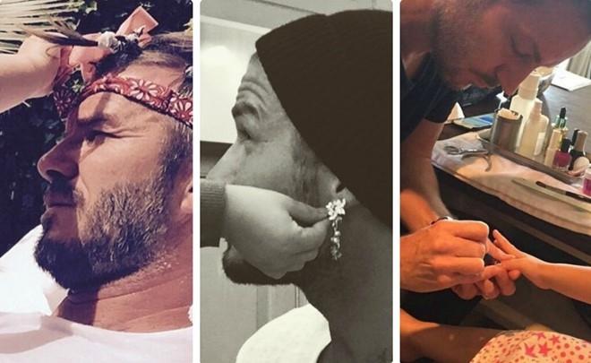 Khoanh khac David Beckham nam tay con gai 'gay bao' mang hinh anh 4