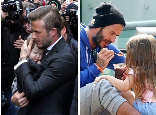 Khoanh khac David Beckham nam tay con gai 'gay bao' mang hinh anh 6