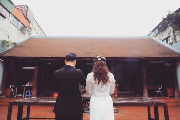 Thành Trung luôn dành những lời ngọt ngào cho vợ 9x. Sau kết hôn, hai người đến ở căn hộ chung cư mới.