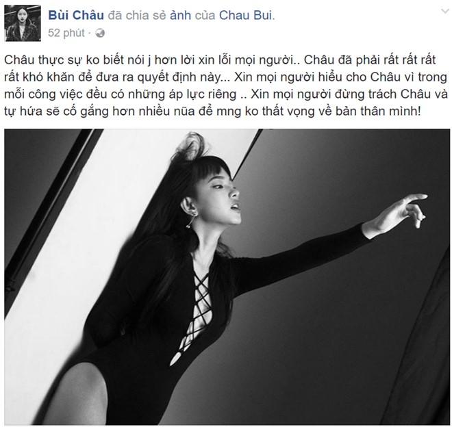 Hot girl Chau Bui bat ngo rut khoi The Face hinh anh 1