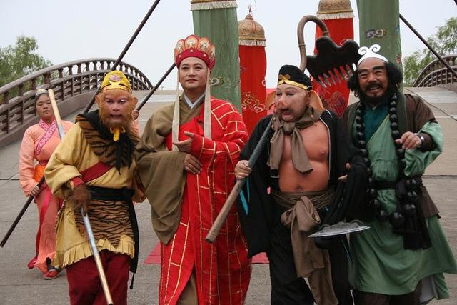 Bốn thầy trò Đường Tăng trong phim Tây Du Ký. Ảnh: TL.