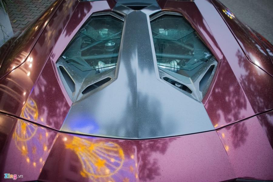 Sieu xe mui tran Lamborghini Aventador tai Ha Noi doi mau la mat hinh anh 5