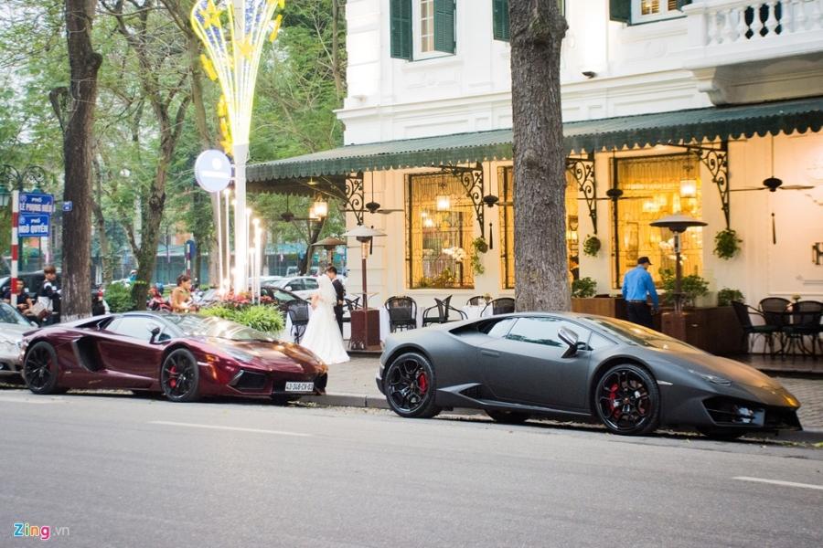 Sieu xe mui tran Lamborghini Aventador tai Ha Noi doi mau la mat hinh anh 6