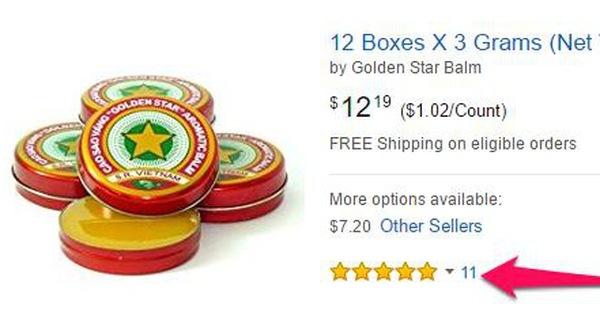 Tương tự với sản phẩm cao sao vàng, dù được đánh giá 5 sao nhưng cũng chỉ qua 11 lượt đánh giá.