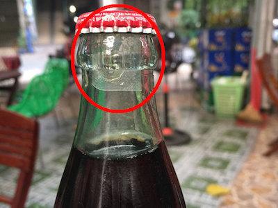 Phát hiện chai Coca-cola có