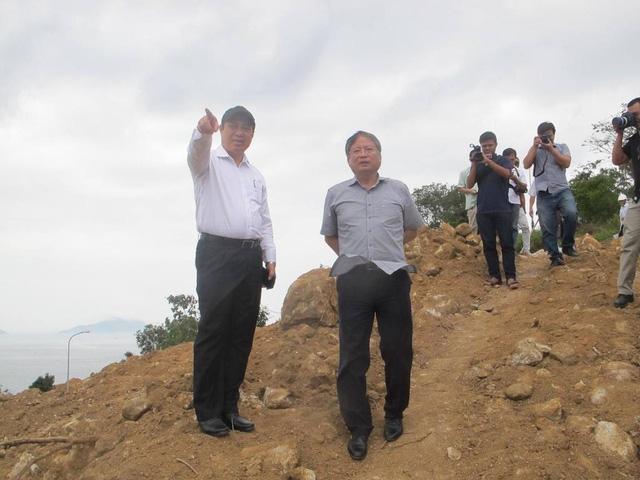 Chủ tịch UBND TP Đà Nẵng Huỳnh Đức Thơ và Phó Chủ tịch UBND TP Đà Nẵng Nguyễn Ngọc Tuấn trực tiếp kiểm tra dự án chiều 19/3