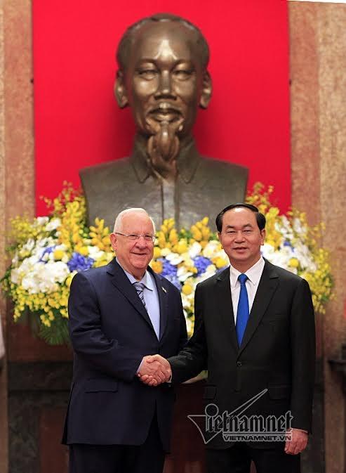 Chủ tịch nước Trần Đại Quang, Trần Đại Quang, Israel, Tổng thống Israel
