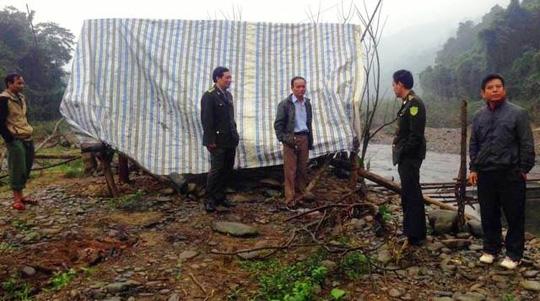 Hiện trường phân trường bảo vệ rừng Rào Mắc - nơi Lê Minh Nam đã dùng dao chém ông Nguyễn Phan Thắng.