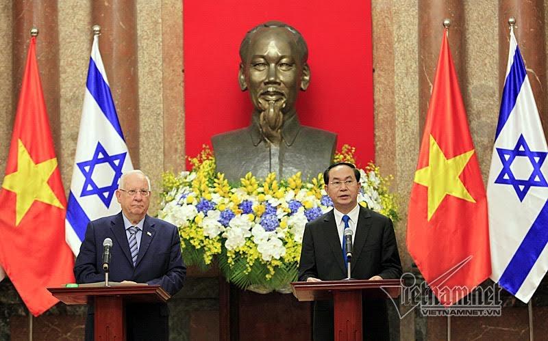Chủ tịch nước Trần Đại Quang, Tổng thống Israel, chất độc da cam