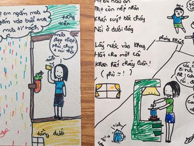 Bé gái 9 tuổi với biệt tài vẽ tranh, làm thơ về mẹ khó ai sánh kịp