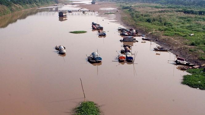 Sông Hồng đoạn chảy qua Hà Nội /// Ảnh: Ngọc Thắng