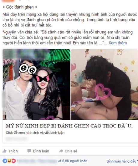 Xon xao chuyen hotgirl bi danh ghen cao troc dau dan mat - Anh 1