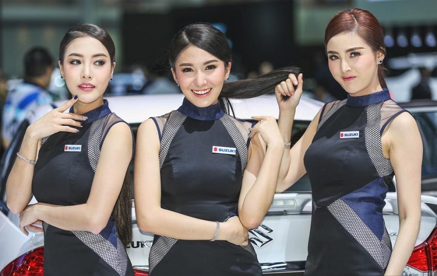 Nguoi dep khoe sac o trien lam Bangkok Motor Show 2017 hinh anh 2