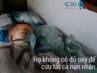 Video: Hình ảnh gây sốc về nạn nhân vũ khí hóa học ở Syria
