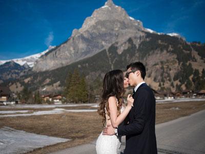 Bộ ảnh cưới dưới chân núi Alpes tại Thụy Sĩ vào mùa đẹp nhất trong năm của cặp đôi Việt Kiều