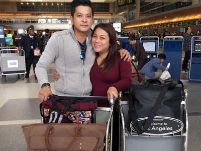 Hoàng Anh bịn rịn chia tay vợ Việt kiều để về Việt Nam