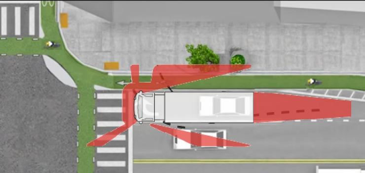 Bạn cần tránh những điểm chạy xe khuất tầm nhìn của tài xế.