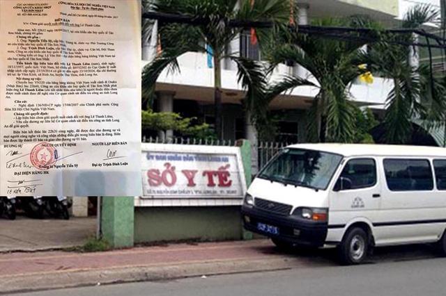 Sở Y tế tỉnh Long An, nơi từng bị Thanh tra và phải kiểm điểm trách nhiệm đối với các cá nhân thuộc quyền quản lý tổ đấu thầu do để xảy ra sai phạm.