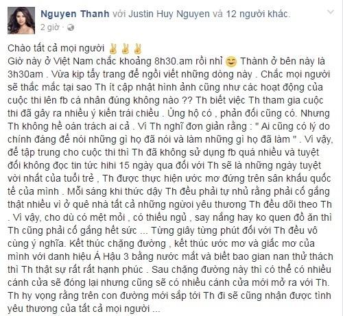 Doat ngoi a hau, Nguyen Thi Thanh len tieng ve viec di thi chui hinh anh 1