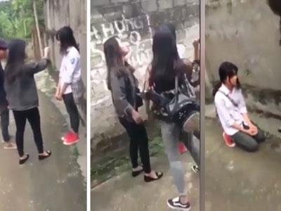 Phú Thọ: Nữ sinh lớp 8 bị bắt ép quỳ gối van xin các