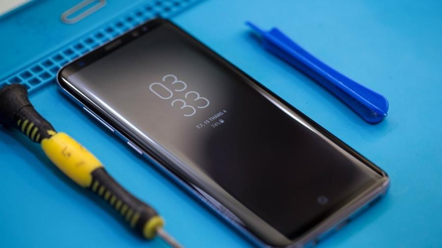 'Mo bung' Samsung Galaxy S8 vua ve Viet Nam hinh anh 1