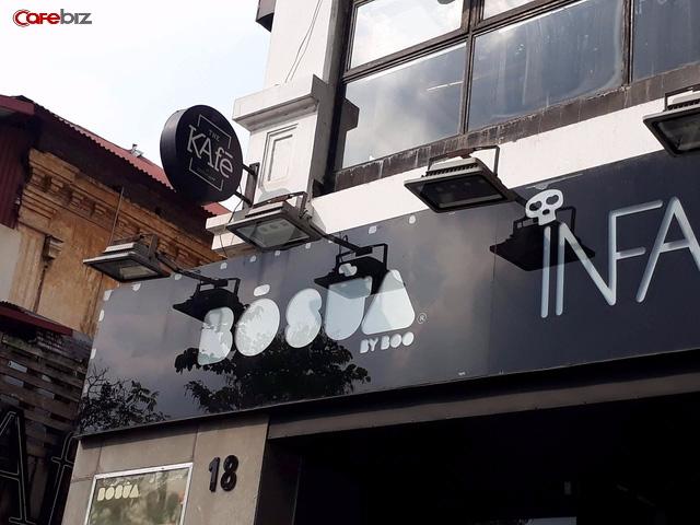Tại Hà Nội, the Kafe đã đóng cửa địa điểm 18, Điện Biên Phủ (một trong những địa điểm đầu tiên của chuỗi). Mặc dù biển hiện vẫn chưa bị dỡ nhưng vị trí này đã thuộc về một thương hiệu quần áo khác. Ảnh: Đức Thọ.